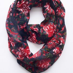 J. Jill Very Beautiful Floral Infinity Scarf NWT